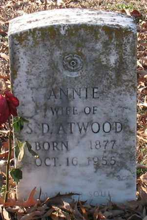 ATWOOD, ANNIE - Garland County, Arkansas | ANNIE ATWOOD - Arkansas Gravestone Photos