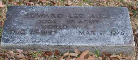 AULT (VETERAN WWI), EDWARD LEE - Garland County, Arkansas | EDWARD LEE AULT (VETERAN WWI) - Arkansas Gravestone Photos