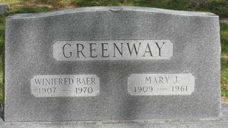 GREENWAY BAER, WINIFRED - Garland County, Arkansas | WINIFRED GREENWAY BAER - Arkansas Gravestone Photos