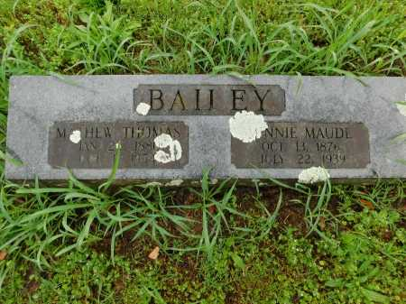BAILEY, MINNIE MAUDE - Garland County, Arkansas | MINNIE MAUDE BAILEY - Arkansas Gravestone Photos