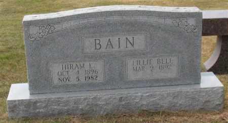 BAIN, HIRAM LOUIS - Garland County, Arkansas | HIRAM LOUIS BAIN - Arkansas Gravestone Photos