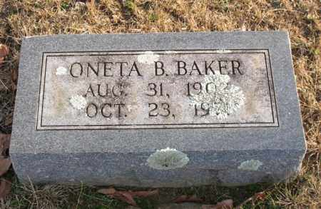 BAKER, ONETA B. - Garland County, Arkansas | ONETA B. BAKER - Arkansas Gravestone Photos