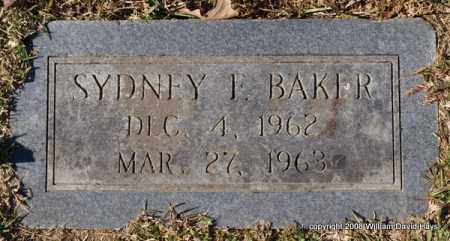 BAKER, SYDNEY F. - Garland County, Arkansas | SYDNEY F. BAKER - Arkansas Gravestone Photos
