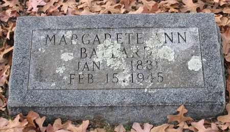 BALLARD, MARGARETE ANN - Garland County, Arkansas | MARGARETE ANN BALLARD - Arkansas Gravestone Photos