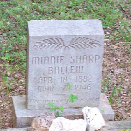 SHARP BALLEW, MINNIE - Garland County, Arkansas | MINNIE SHARP BALLEW - Arkansas Gravestone Photos