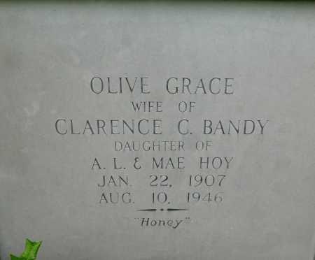 BANDY, OLIVE GRACE - Garland County, Arkansas | OLIVE GRACE BANDY - Arkansas Gravestone Photos