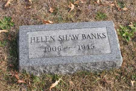 SHAW BANKS, HELEN - Garland County, Arkansas | HELEN SHAW BANKS - Arkansas Gravestone Photos