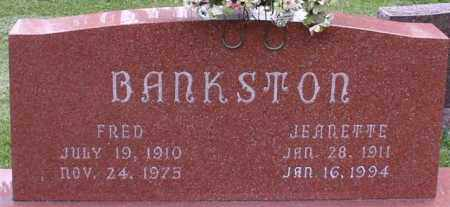BANKSTON, FRED - Garland County, Arkansas | FRED BANKSTON - Arkansas Gravestone Photos