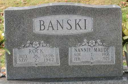 BANSKI, NANNIE MAUDE - Garland County, Arkansas | NANNIE MAUDE BANSKI - Arkansas Gravestone Photos