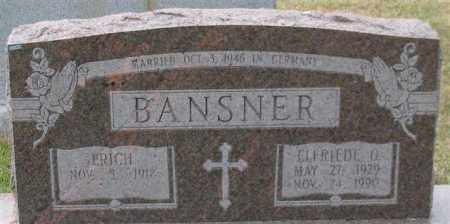 BANSNER, ELFRIEDE O. - Garland County, Arkansas | ELFRIEDE O. BANSNER - Arkansas Gravestone Photos