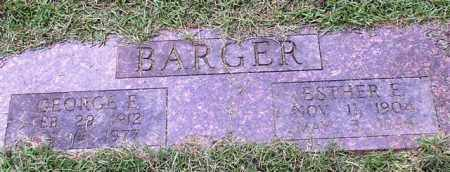 BARGER, ESTHER E. - Garland County, Arkansas | ESTHER E. BARGER - Arkansas Gravestone Photos
