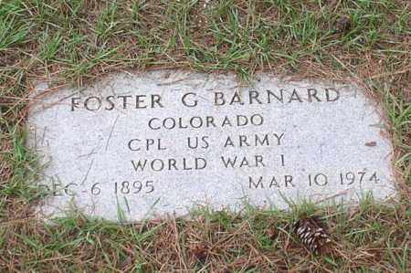 BARNARD (VETERAN WWI), FOSTER G - Garland County, Arkansas | FOSTER G BARNARD (VETERAN WWI) - Arkansas Gravestone Photos