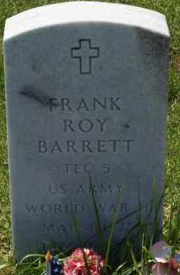 BARRETT (VETERAN WWII), FRANK ROY - Garland County, Arkansas | FRANK ROY BARRETT (VETERAN WWII) - Arkansas Gravestone Photos