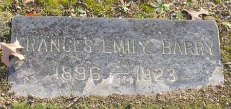 BARRY, FRANCES EMILY - Garland County, Arkansas   FRANCES EMILY BARRY - Arkansas Gravestone Photos
