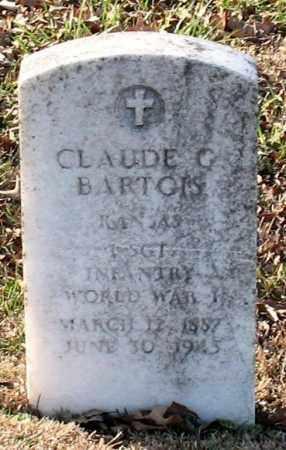 BARTGIS (VETERAN WWI), CLAUDE G - Garland County, Arkansas | CLAUDE G BARTGIS (VETERAN WWI) - Arkansas Gravestone Photos