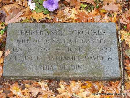 CROCKER BASSETT, TEMPERANCE - Garland County, Arkansas | TEMPERANCE CROCKER BASSETT - Arkansas Gravestone Photos