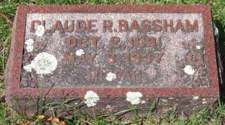 BASSHAM, CLAUDE R. - Garland County, Arkansas | CLAUDE R. BASSHAM - Arkansas Gravestone Photos
