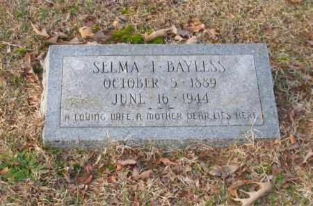 BAYLESS, SELMA I. - Garland County, Arkansas | SELMA I. BAYLESS - Arkansas Gravestone Photos