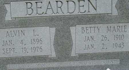 BEARDEN, BETTY MARIE (CLOSE UP) - Garland County, Arkansas | BETTY MARIE (CLOSE UP) BEARDEN - Arkansas Gravestone Photos