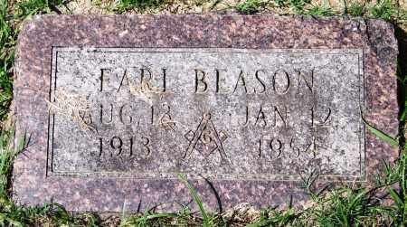 BEASON, EARL - Garland County, Arkansas | EARL BEASON - Arkansas Gravestone Photos
