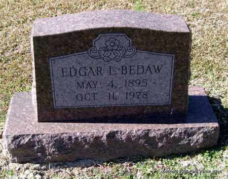 BEDAW, EDGAR L. - Garland County, Arkansas | EDGAR L. BEDAW - Arkansas Gravestone Photos