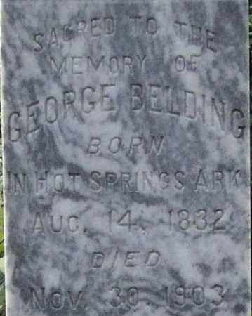 BELDING, GEORGE (CLOSE UP) - Garland County, Arkansas | GEORGE (CLOSE UP) BELDING - Arkansas Gravestone Photos