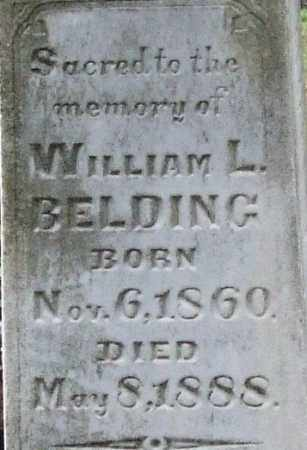 BELDING, WILLIAM L. (CLOSE UP) - Garland County, Arkansas | WILLIAM L. (CLOSE UP) BELDING - Arkansas Gravestone Photos