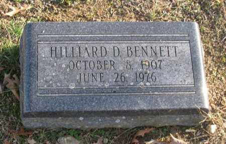 BENNETT, HILLIARD D. - Garland County, Arkansas | HILLIARD D. BENNETT - Arkansas Gravestone Photos