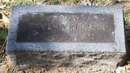 BENSON, HENRY C. - Garland County, Arkansas | HENRY C. BENSON - Arkansas Gravestone Photos