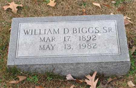 BIGGS, SR., WILLIAM D. - Garland County, Arkansas | WILLIAM D. BIGGS, SR. - Arkansas Gravestone Photos