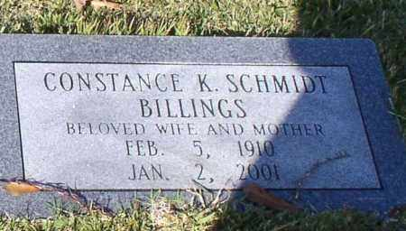 SCHMIDT BILLINGS, CONSTANCE K. - Garland County, Arkansas | CONSTANCE K. SCHMIDT BILLINGS - Arkansas Gravestone Photos