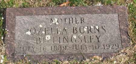 BURNS BILLINGSLEY, OZELLA - Garland County, Arkansas | OZELLA BURNS BILLINGSLEY - Arkansas Gravestone Photos