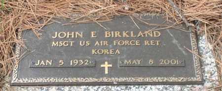 BIRKLAND (VETERAN KOR), JOHN E - Garland County, Arkansas | JOHN E BIRKLAND (VETERAN KOR) - Arkansas Gravestone Photos