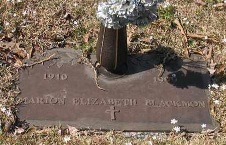 BLACKMON, MARION ELIZABETH - Garland County, Arkansas | MARION ELIZABETH BLACKMON - Arkansas Gravestone Photos