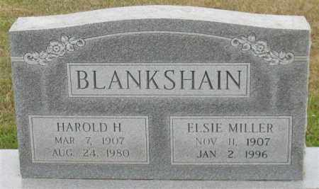 BLANKSHAIN, HAROLD H. (CLOSE UP) - Garland County, Arkansas | HAROLD H. (CLOSE UP) BLANKSHAIN - Arkansas Gravestone Photos