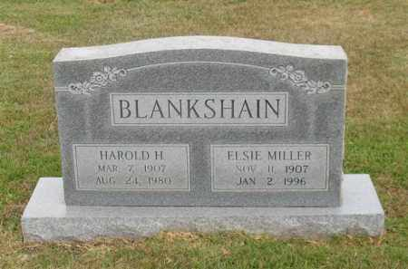 BLANKSHAIN, HAROLD H. - Garland County, Arkansas | HAROLD H. BLANKSHAIN - Arkansas Gravestone Photos