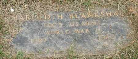 BLANKSHAIN (VETERAN WWII), HAROLD H - Garland County, Arkansas | HAROLD H BLANKSHAIN (VETERAN WWII) - Arkansas Gravestone Photos