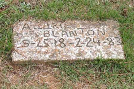 BLANTON, AUDRIE - Garland County, Arkansas | AUDRIE BLANTON - Arkansas Gravestone Photos