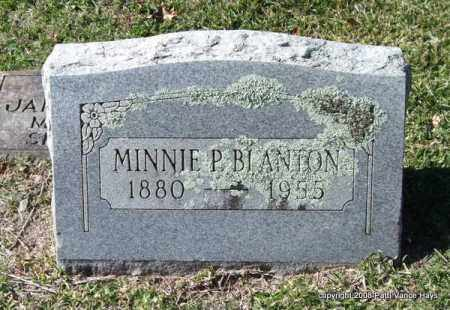 BLANTON, MINNIE P. - Garland County, Arkansas | MINNIE P. BLANTON - Arkansas Gravestone Photos