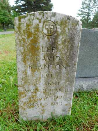 BLANTON (VETERAN WWII), LEE DAVID - Garland County, Arkansas | LEE DAVID BLANTON (VETERAN WWII) - Arkansas Gravestone Photos