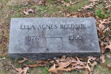 BLEDSOE, ELLA AGNES - Garland County, Arkansas | ELLA AGNES BLEDSOE - Arkansas Gravestone Photos