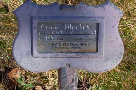 BLOCKER, MINNIE - Garland County, Arkansas | MINNIE BLOCKER - Arkansas Gravestone Photos