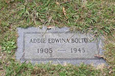 BOLTON, ADDIE EDWINA - Garland County, Arkansas | ADDIE EDWINA BOLTON - Arkansas Gravestone Photos