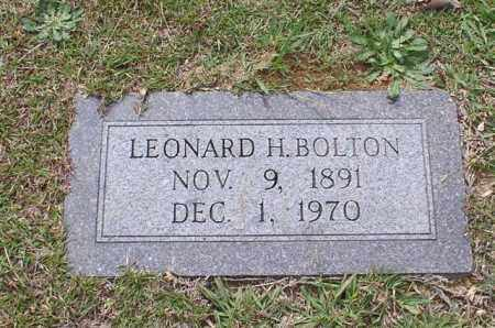 BOLTON, LEONARD H. - Garland County, Arkansas | LEONARD H. BOLTON - Arkansas Gravestone Photos
