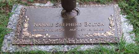 BOLTON, NANNIE SHEPHERD - Garland County, Arkansas | NANNIE SHEPHERD BOLTON - Arkansas Gravestone Photos
