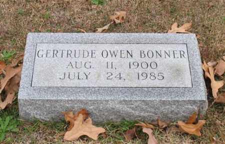 OWEN BONNER, GERTRUDE - Garland County, Arkansas | GERTRUDE OWEN BONNER - Arkansas Gravestone Photos