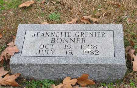 BONNER, JEANNETTE - Garland County, Arkansas | JEANNETTE BONNER - Arkansas Gravestone Photos