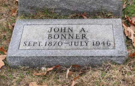 BONNER, JOHN A. - Garland County, Arkansas   JOHN A. BONNER - Arkansas Gravestone Photos