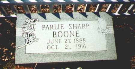 SHARP BOONE, PARLIE - Garland County, Arkansas | PARLIE SHARP BOONE - Arkansas Gravestone Photos