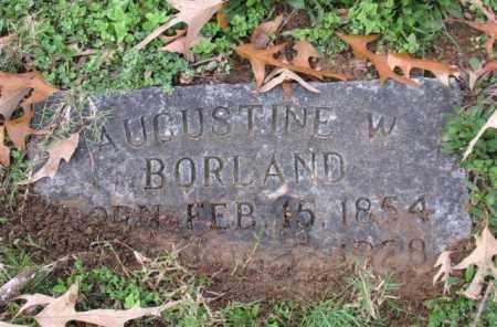BORLAND, AUGUSTINE W. - Garland County, Arkansas | AUGUSTINE W. BORLAND - Arkansas Gravestone Photos